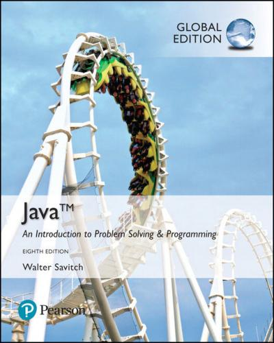 Java: Introduction to Problem Solving & Programmin 8/E